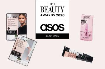 Iroha Nature en la final de los premios de belleza The Beauty Awards 2020 Asos con 4 productos